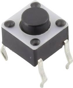 Bouton-poussoir à rappel TRU COMPONENTS YST-1102A 1386947 12 V/DC 0.05 A 1 x Off/(On) à rappel 1 pc(s)