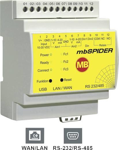 Datenmodem LAN, RS-232, RS-485 MB Connect Line GmbH Anzahl Eingänge: 4 x Anzahl Ausgänge: 1 x 24 V/DC