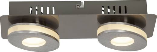 LED-Deckenleuchte 8 W Warm-Weiß Brilliant Crossing G08529/21 Nickel, Aluminium