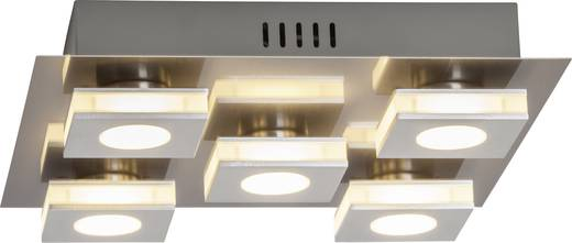 LED-Deckenleuchte 20 W Warm-Weiß Brilliant Transit G67495/21 Nickel, Aluminium