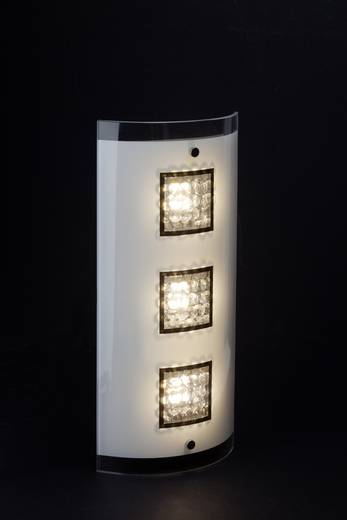 LED-Wandleuchte 15 W Walnuss Brilliant Harvey G94347/15 Chrom, Weiß