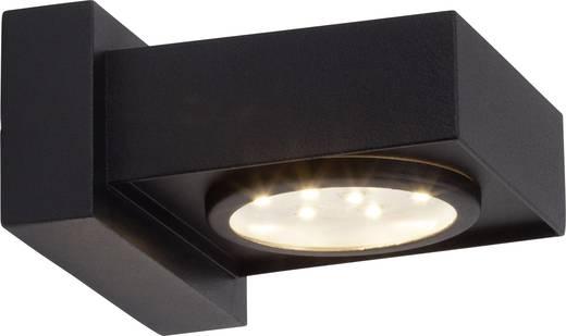 LED-Außenwandleuchte 2.4 W Kalt-Weiß Brilliant Warren G96251/06 Schwarz