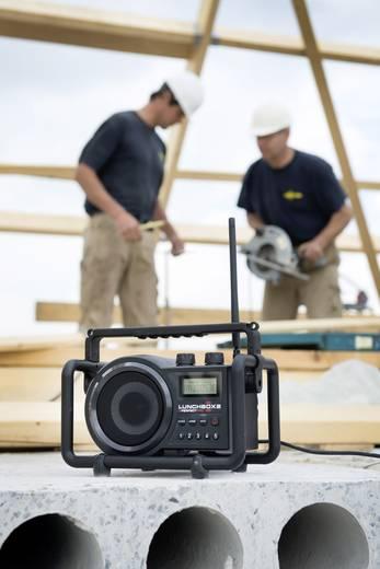 UKW Baustellenradio PerfectPro Lunchbox 2 AUX, MW, UKW spritzwassergeschützt, staubdicht, stoßfest Schwarz