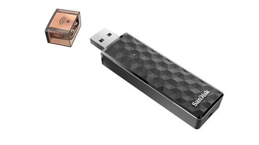 USB-Zusatzspeicher Smartphone/Tablet SanDisk Connect™ Wireless Schwarz 16 GB USB 2.0, WLAN