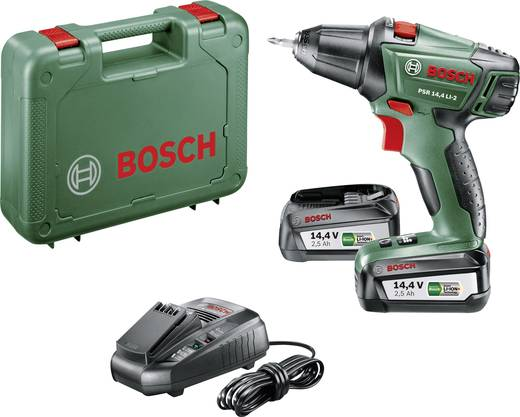 Bosch Home and Garden PSR 14,4 LI-2 Akku-Bohrschrauber 14.4 V 2.5 Ah Li-Ion inkl. 2. Akku, inkl. Koffer