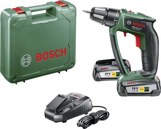 Bosch Home and Garden PSR 18 LI-2 Ergonomic Akku-Bohrschrauber 18 V 2.5 Ah Li-Ion inkl. 2. Akku, inkl. Koffer