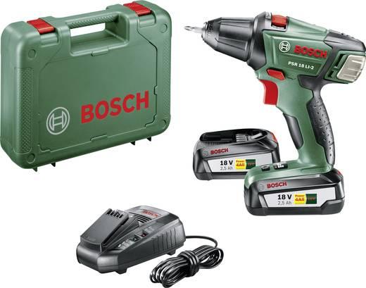 Bosch Home and Garden PSR 18 LI-2 Akku-Bohrschrauber 18 V 2.5 Ah Li-Ion inkl. 2. Akku, inkl. Koffer