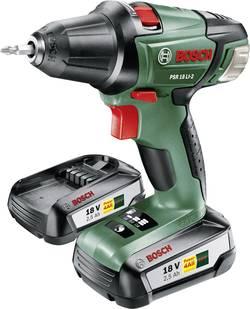 Aku vŕtací skrutkovač Bosch Home and Garden PSR 18 LI-2 060397330H, 18 V, 2.5 Ah, Li-Ion akumulátor