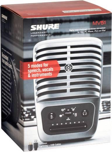 PC-Mikrofon Shure MV51 Übertragungsart:Kabelgebunden inkl. Kabel