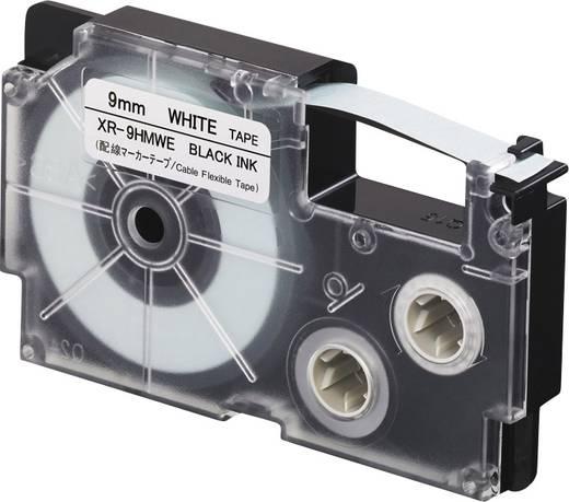 Schriftband Biegsame Kabelumwicklung Casio XR XR-9HMWE Polyethylen Bandfarbe: Weiß Schriftfarbe:Schwarz 9 mm 5.5 m