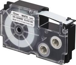Páska na kabely Casio XR-12HMWE, 12 mm, 5.5 m, černá, bílá
