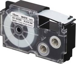 Páska extra lepicí Casio XR-18GWE, 18 mm, 5.5 m, černá, bílá