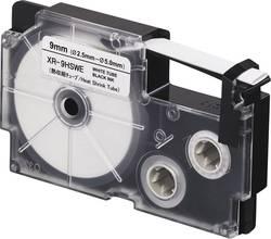 Páska na teplem smršťovací trubice Casio XR-9HSWE, 9 mm, 2.5 m, černá, bílá