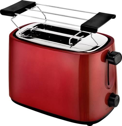 Toaster kabelgebunden, mit Brötchenaufsatz EFBE Schott SC TO 1060 R Rot (metallic)