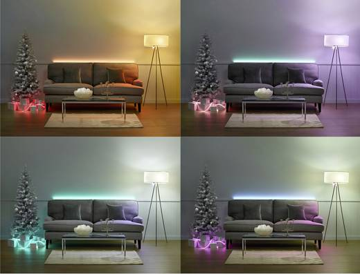 philips lighting hue led stripe starter kit light strips plus led fest eingebaut rgb kaufen. Black Bedroom Furniture Sets. Home Design Ideas