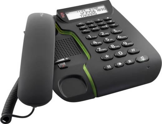 Schnurgebundenes Seniorentelefon doro Comfort 3005 Anrufbeantworter, Freisprechen Beleuchtetes Display Schwarz