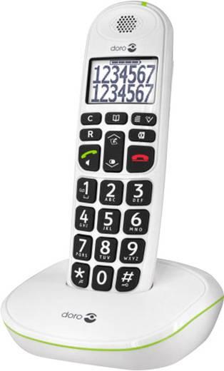 doro Phoneeasy® 110 Schnurloses Seniorentelefon Freisprechen Beleuchtetes Display Weiß