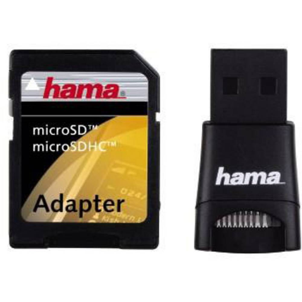 External Memory Card Reader Usb 20 Hama 91047 Black From Conrad Microsd