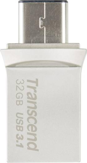 USB-Zusatzspeicher Smartphone/Tablet Transcend JetFlash® 890 Silber 32 GB USB 3.1, USB-C™