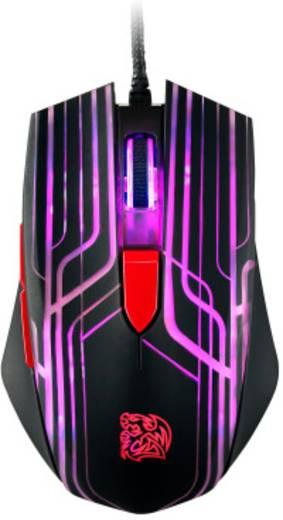 USB-Gaming-Maus Optisch TT eSports Talon Beleuchtet Schwarz