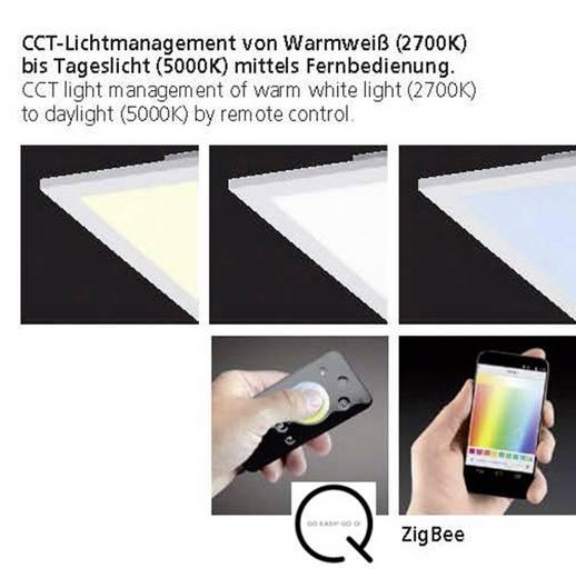Paul Neuhaus Q® LED Decken- und Wandleuchte Q®-Flag LED fest eingebaut 46 W Warm-Weiß, RGB