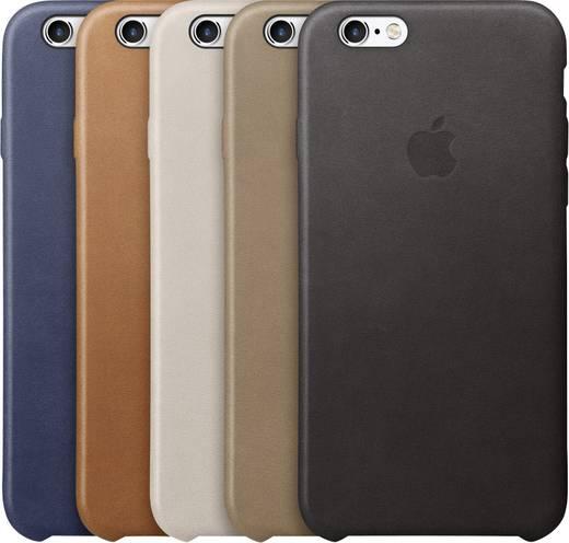 iPhone Backcover Apple Leder Case Passend für: Apple iPhone 6S, Apple iPhone 6, Schwarz