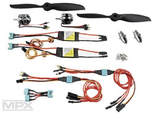 Flugmodell Brushless Antriebsset Multiplex 332619 Passend für: Multiplex Twinstar
