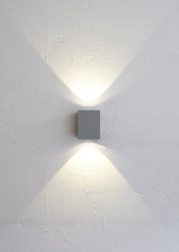 Nordlux Canto Kubi 77521010 LED-Außenwandleuchte 10 W Warm-Weiß Grau