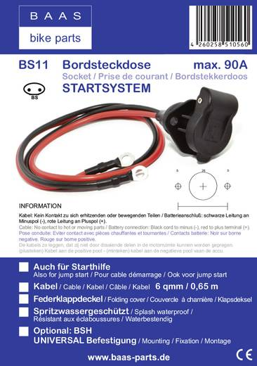 Anschlusskabel BAAS BS11 Bikestart® BS11
