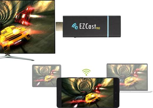 Renkforce EZCast Pro HDMI Streaming Stick AirPlay, Miracast, DLNA, Splitscreen-Funktion