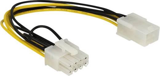 Strom Anschlusskabel [1x PCIe-Stecker 8pol. - 1x PCIe-Buchse 6pol.] 0.20 m Gelb, Schwarz Delock