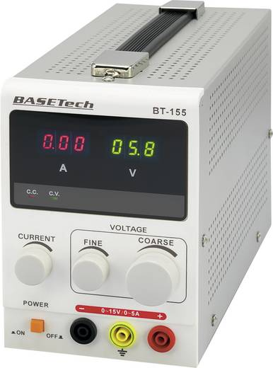 Labornetzgerät, einstellbar Basetech BT-155 0 - 15 V/DC 0 - 5 A 75 W Anzahl Ausgänge 1 x