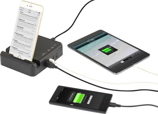 USB-Ladegerät VOLTCRAFT DTPS-6000/4 DTPS-6000/4 Steckdose Ausgangsstrom (max.) 6000 mA 4 x USB