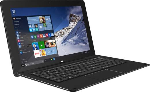 TrekStor® SurfTab Duo W1 WiFi Windows®-Tablet / 2-in-1 25.7 cm (10.1 Zoll) 32 GB Wi-Fi Schwarz Intel® Atom® x5 1.84 GHz