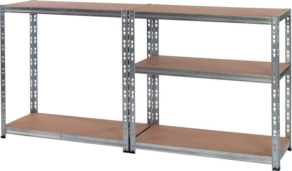 Pro Bau Tec heavy duty shelving w x h x d 900 x 1800 x 400 mm zinc plated wood
