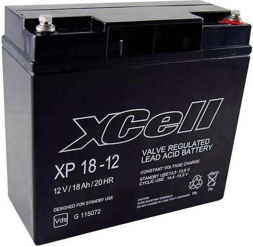 XCell XP1712 XCEXP1812 Bleiakku 12 V 18 Ah Blei-Vlies (AGM) (B x H x T) 181 x 167 x 77 mm M5-Schraubanschluss Wartungsfr