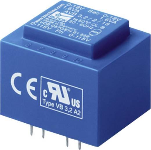 Printtransformator 2 x 115 V 2 x 9 V/AC 1.50 VA 83 mA AVB 1,5/2/9 Block