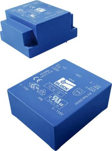 Printtransformator 2 x 115 V 2 x 18 V/AC 18 VA 500 mA FL 18/18 Block