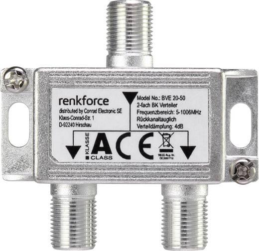 kabel tv verteiler renkforce 11046c1e 2 fach 5 1006 mhz. Black Bedroom Furniture Sets. Home Design Ideas