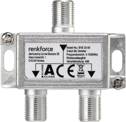 Kabel-TV Verteiler Renkforce 2-fach 5 - 1006 MHz