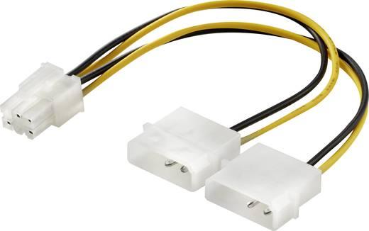 Strom Y-Kabel [1x ATX-Stecker 6pol. - 2x IDE-Strom-Stecker 4pol.] 0.15 m Gelb-Schwarz Renkforce