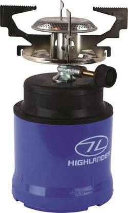 Image of Highlander Camping Kocher Gaskocher GAS010 ABS Kunststoff, Edelstahl