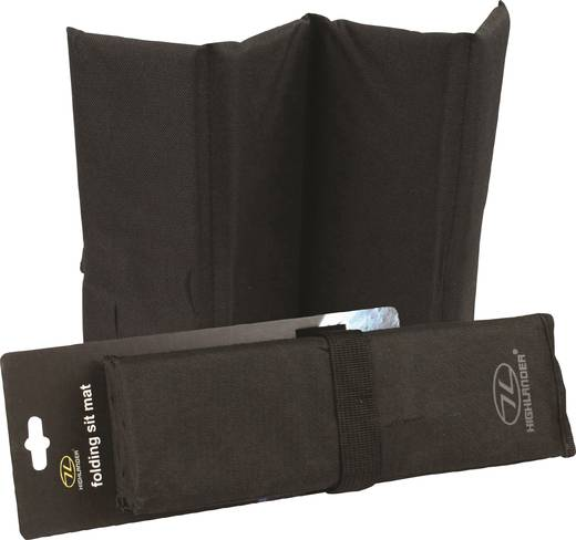 Outdoor Kissen Highlander Sitzmatte faltbar schwarz Schwarz SM010-BK