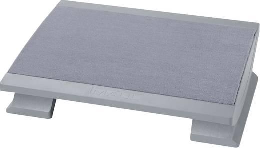 Maul Fußstütze ergonomisch, höhenverstellbar, neigungsverstellbar, mit Teppich-Belag Grau 9022585