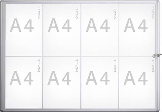 Maul Schaukasten MAULextraslim Verwendung für Papierformat: 8 x DIN A4 Innenbereich 6820808 Aluminium Silber 1 St.