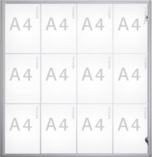 Maul Schaukasten MAULextraslim Verwendung für Papierformat: 12 x DIN A4 Innenbereich 6821208 Aluminium Silber 1 St.