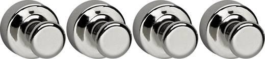 Maul Magnet (Ø x H) 20 mm x 24 mm Kegel Hellsilber 4 St. 6168896