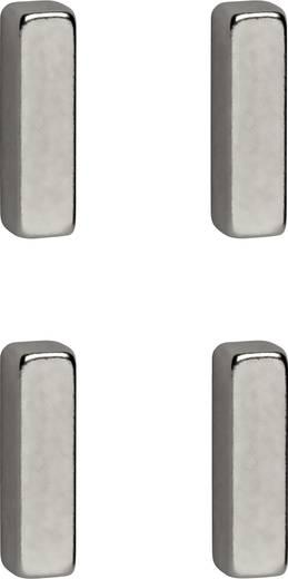 maul neodym magnet b x h x t 15 x 4 x 4 mm rechteckig stab silber 4 st 6169096 kaufen. Black Bedroom Furniture Sets. Home Design Ideas