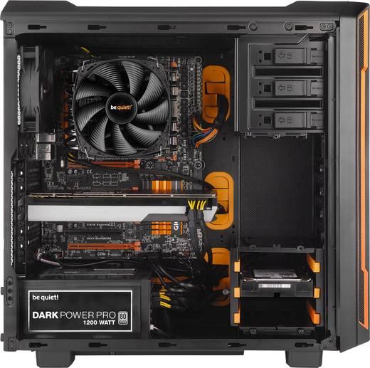 Midi-Tower Gaming-Gehäuse BeQuiet Silent Base 600 Schwarz/Orange