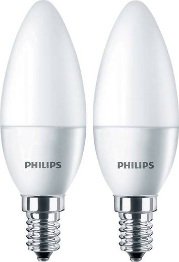 Philips Lighting LED EEK A+ (A++ - E) E14 Kerzenform 5.5 W = 40 W Warmweiß (Ø x L) 35 mm x 106 mm 2 St.